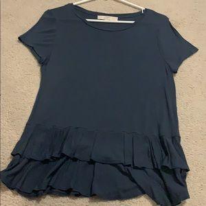 Dark blue short sleeve flowy
